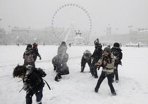 Фотогалерея: Снежное королевство. Европа в плену зимней стихии