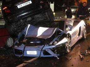 Итальянские полицейские разбили служебный Lamborghini