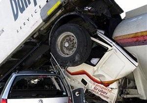 В Бразилии столкнулись около 300 автомобилей
