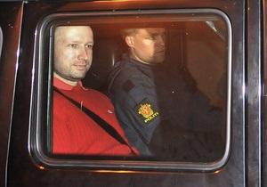 Норвегия запросила у Беларуси информацию о пребывании Брейвика в стране