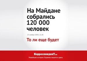 Корреспондент.net запустив промо-кампанію Новітня історія України в заголовках