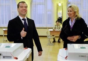 Медведєв проголосував на виборах