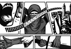 Femen стали героями комикса об арабской супергероине-ниндзя