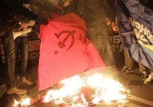 Марш УПА: милиция составила админпротоколы по факту сжигания флагов