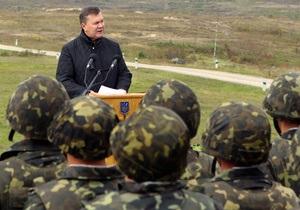 Последний призыв: Янукович подписал указ о переходе армии на контрактную основу