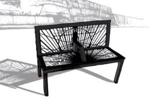 Воспоминания в тени. Дизайнер разработал скамью для чтения воспоминаний сидевших ранее людей