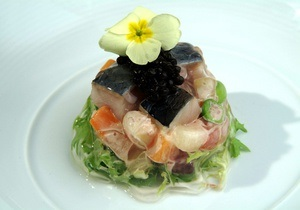 Блюда из рыбы - рыба рецепт - рыбный день - Рецепт русского салата Кабаре от повара Свена Эрика Ренаа