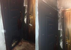 Дело днепропетровских террористов: в дверь гражданского активиста бросили коктейль Молотова