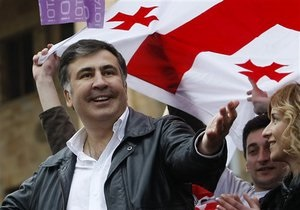 Саакашвили переизбрали на пост главы своей парти