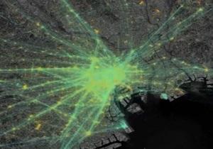 Пульс check-in. Соцсеть Foursquare показала своих пользователей на картах крупнейших мегаполисов