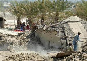 В Пакистане произошло второе за неделю мощное землетрясение
