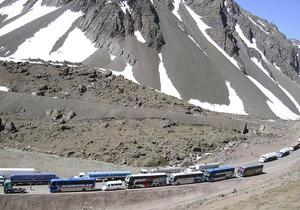 Около 15-ти тысяч туристов заблокированы в горах между Аргентиной и Чили