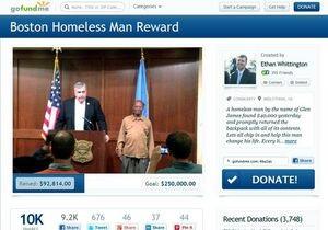 Новости США: В США бездомному, который принес в полицию сумку с $41 тыс, собрали почти $100 тыс