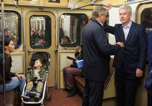 Мэр Москвы приехал на работу на метро