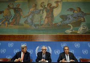 Керри: Переговоры по Сирии проходят конструктивно