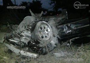 новости Мариуполя - ДТП - В Мариуполе водитель на BMW  снес автобусную остановку