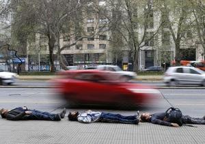 Новини Чилі - У столиці Чилі більше тисячі людей відзначили річницю держперевороту, лежачи на вулицях