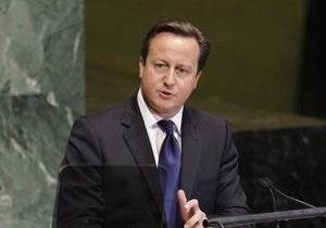 Кэмерон упрекнул однопартийца за брань в адрес Путина