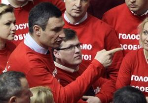 Кличко - Янукович - Рада - евроинтеграция - Кличко обвиняет Януковича в декларативности, отмечая хорошее настроение во время выступления