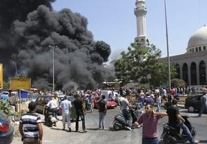 У Лівані у двох сунітських мечетях прогриміли вибухи. Загинули близько 30 людей