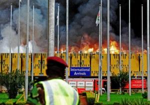 Пожежа в аеропорту столиці Кенії паралізувала рух по країні