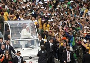 Новини Бразилії - Папа Римський - Папа Римський закликав молодь не боятися йти проти течії