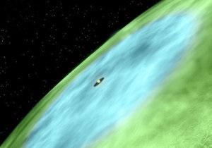 Новини науки - космос: Вчені виявили  лінію снігу  у протопланетному диску сонцеподібної зірки