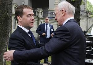 Україна-Росія - Азаров - Медведєв - Сьогодні глави урядів Росії та України проведуть зустріч  віч-на-віч  у Сочі
