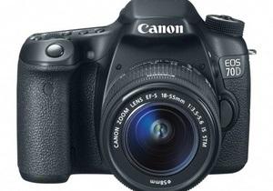 Canon представила інноваційний дзеркальний фотоаппарат- Canon EOS 70D - дзеркальні фотоапарати