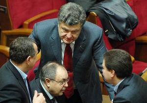 Рада - Домбровський - Балога - Порошенко заявив, що більшість позафракційних депутатів бойкотуватимуть засідання Ради