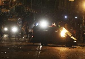 Єгипет - Мурсі - Заворушення в Єгипті напередодні річниці інавгурації Мурсі: одна людина загинула, 160 постраждалих