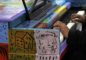 Женева - громадські фортепіано - На вулицях Женеви з являться громадські фортепіано