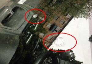 новини Києва - стрілянина - У центрі Києва невідомий обстріляв три автомобілі