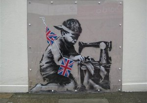 Зникле графіті Бенксі Рабська праця пішло з молотка