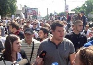 Новини Києва - гей-парад - Близько 200 прихильників Свободи прийшли перевірити, чи всі учасники гей-параду в Києві розійшлися
