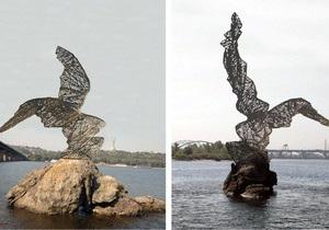 Рідкісний птах - новини Києва - У Києві з явиться перший пам ятник на воді - Рідкісний птах