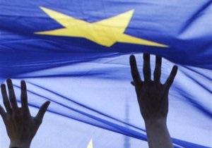 У День Перемоги в Києві пройшла акція на підтримку євроінтеграції