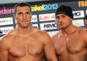 Фотогалерея: Кличко и Пьянета взяли вес