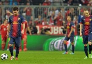 Ліга Чемпіонів: Баварія знищила Барселону в першому півфіналі