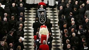 У Лондоні завершилася церемонія похорону Маргарет Тетчер