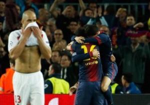 Фотогалерея. Тяжелая игра. Как Барселона в полуфинал Лиги чемпионов прорвалась