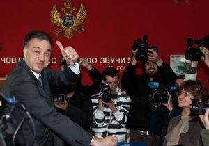 У Чорногорії на виборах перемогу здобув чинний президент