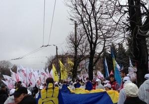 На мітинг опозиції в Києві прийшли близько п яти тисяч осіб