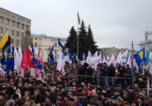 Мітинг Вставай, Україно! в Житомирі: опозиція і міліція розійшлися у підрахунках учасників