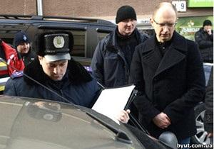 Міліція з ясовує, чи перешкоджав Яценюк правоохоронцям