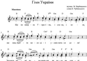 Депутат від Батьківщини запропонував змінити гімн України