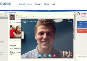 Microsoft представила пошту Outlook з відеочатом від Skype