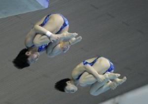 Китаянки завоевали золото в синхронных прыжках с вышки, украинки - восьмые