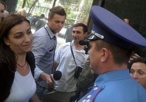 Міліція шукає бомбу поруч з місцем проведення акції на підтримку ТВі і LB.ua