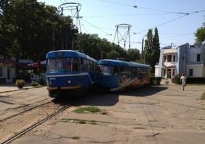 В Одесі зіткнулися два трамваї